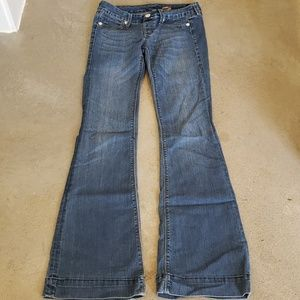70's style flare leg jeans